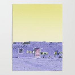 Moroccan Dar in Purple Poster