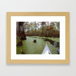 Canoeing the Cache Framed Art Print