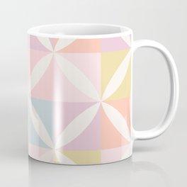Vintage Geometric Pattern - Pastel Rainbow Coffee Mug