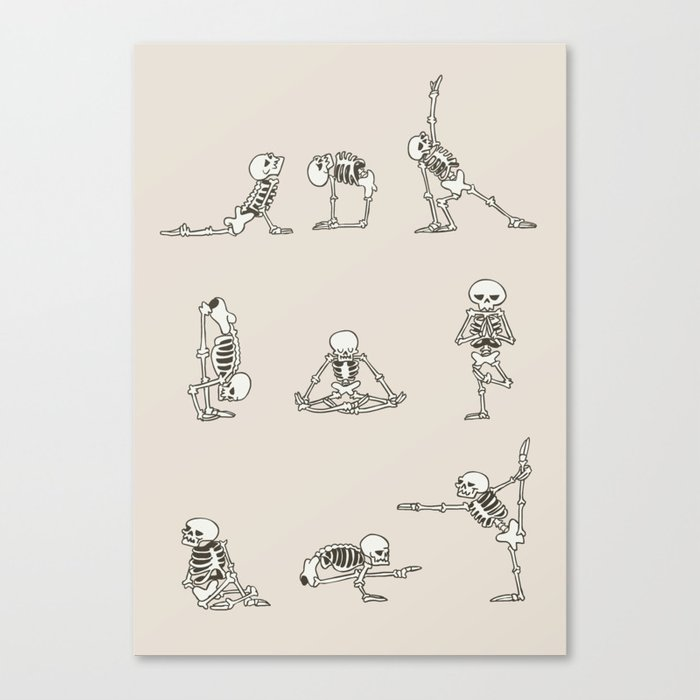 Skeleton Yoga Leinwanddruck