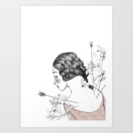 Flowers and arrows Art Print
