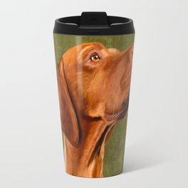 Magyar Vizsla portrait Travel Mug