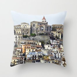Urban Landscape - Cathedral - Sicily - Italy Throw Pillow