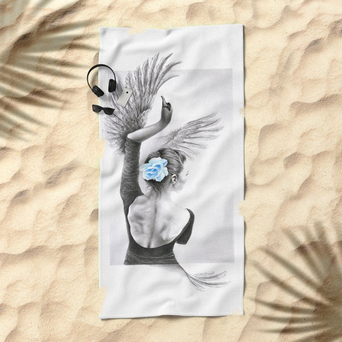 The Swan Beach Towel