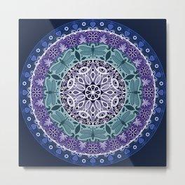 Dragonfly Mandala Metal Print