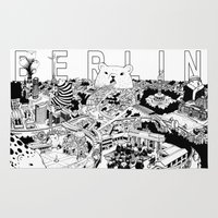 berlin Area & Throw Rugs featuring Berlin by Javier Medellin Puyou aka Jilipollo