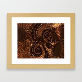Textured Hammered Copper Framed Art Print