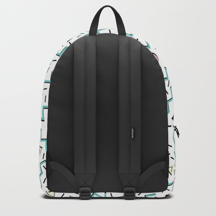 Back to the 80's eighties, funky memphis pattern design Backpack