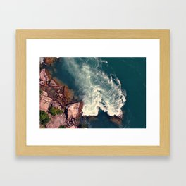 Rushing Water Framed Art Print
