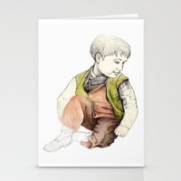 boy Stationery Cards featuring boy by Andreas Derebucha