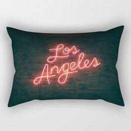 Los Angeles Neon Rectangular Pillow