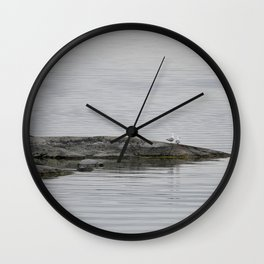 Grey-scale nature Wall Clock