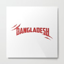 Bangladesh Retro Metal Print
