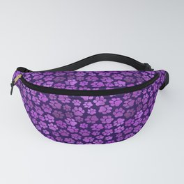 Purple Pawprint Pattern Fanny Pack
