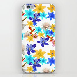 Multi Color floral texture iPhone Skin