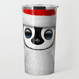 Baby Penguin Wearing a Santa Hat Travel Mug