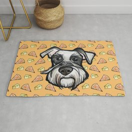 Peter loves pizza and cheese Rug