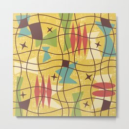 Mid Century Modern Abstract Pattern 414 Metal Print