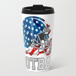 Football in Red and Blue Travel Mug