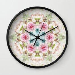 romantic rose (pattern/pillow) Wall Clock