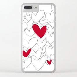 wild hearts Clear iPhone Case
