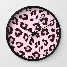 Leopard Print - Pink Chocolate Wall Clock
