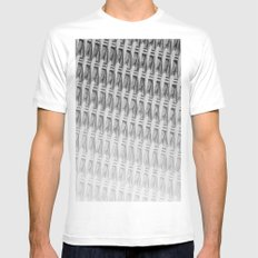 Pattern Sketch White MEDIUM Mens Fitted Tee