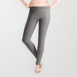 Light Gray - Silver - Aluminum Grey Solid Color Parable to Pantone Opal Gray 16-3801 Leggings