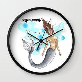 Capricorn Mermaid Wall Clock