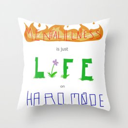 Hard Mode Throw Pillow