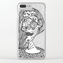 Woman. Picasso Clear iPhone Case