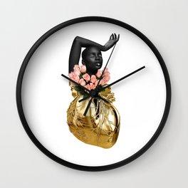 Heart of Roses Wall Clock