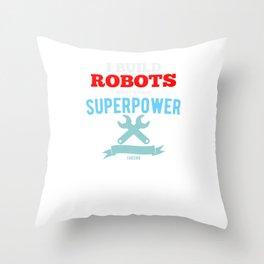 Robotic machine computer engineer Throw Pillow