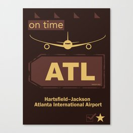 ATL Atlanta airport chocolate Canvas Print