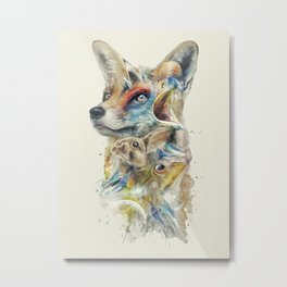Heroes of Lylat Starfox Inspired Classy Geek Painting Metal Print
