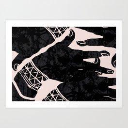 Dancing hands Art Print