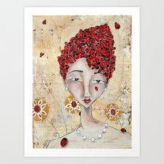 She Was a Lady Among Ladies Art Print