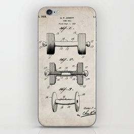 Weight Lifting Patent - Dumb Bell Art - Antique iPhone Skin