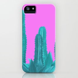 Agave Cactus Turquoise pink iPhone Case