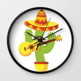 Tequila Fiesta Cinco De Mayo Funny Wall Clock
