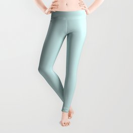 Pale Blue Lily Solid Color Leggings