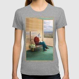 Mr Garwood Goat Reading on the Porch T-shirt