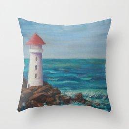 The Lighthouse Rocks AC151208c-12 Throw Pillow