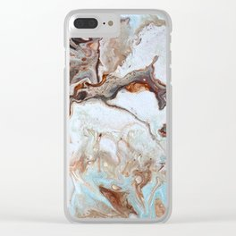 Milk Chocolate with peppermint & cream 2 Clear iPhone Case