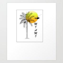Miami- chill out Art Print