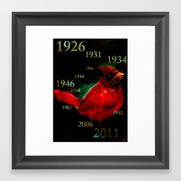 The Original Angry Birds (St Louis Cardinals) Framed Art Print