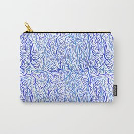 Blue lines pattern Carry-All Pouch