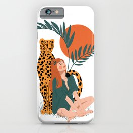 Wild sunsets - leopard love iPhone Case