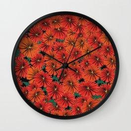Flowers all around Wall Clock