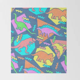 Nineties Dinosaur Pattern Throw Blanket